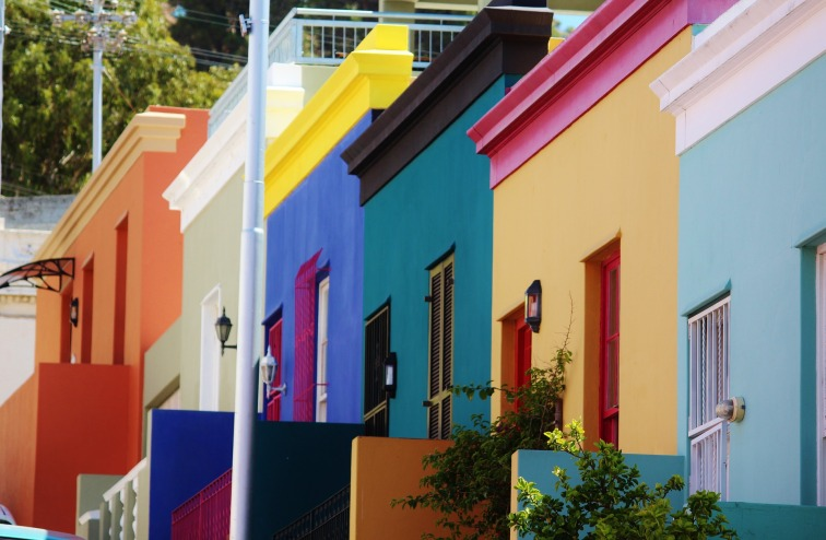24 Hours in Cape Town Colourful houses