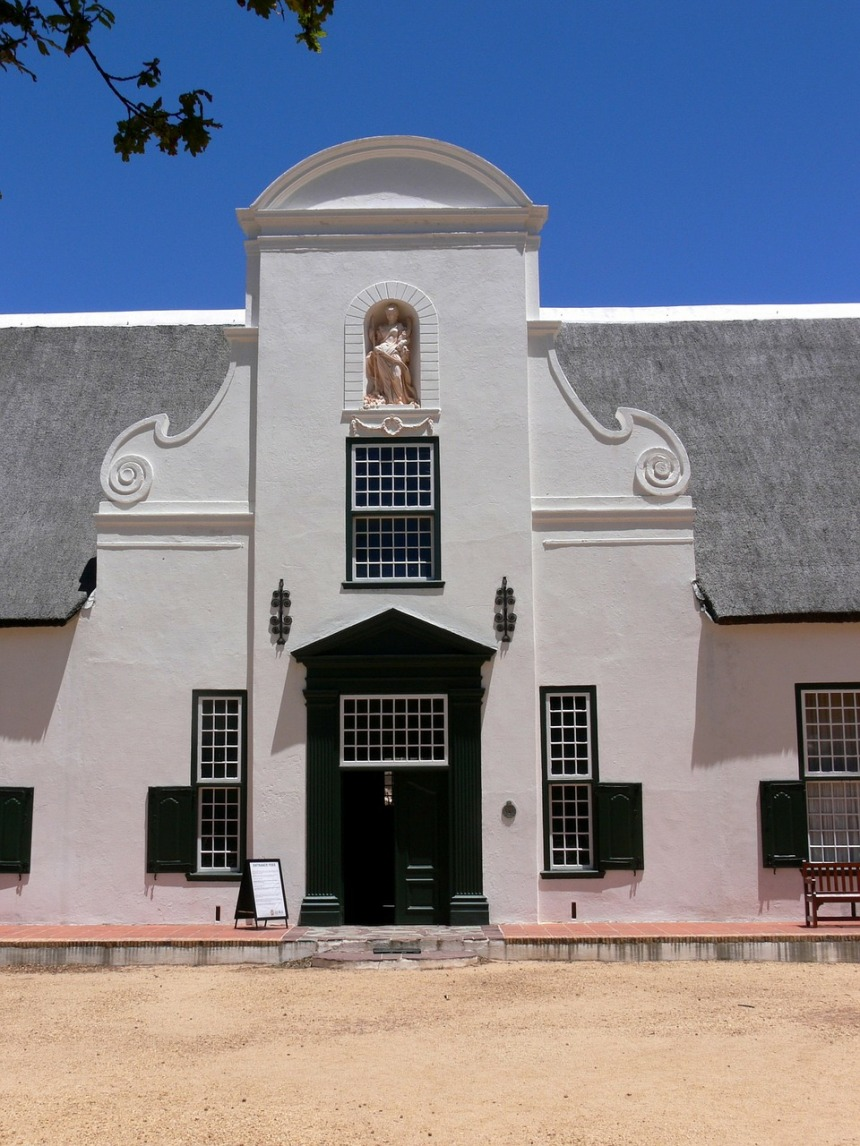 Cape dutch architecture at Groot Constantia