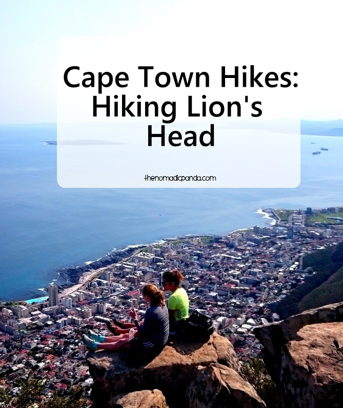 Pin this image : Hike up Lion's Head in Cape Town for spectacular views of the city and ocean