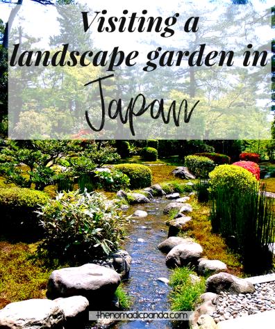 Visiting a landscape garden in Japan Kenrokouen Kanazawa