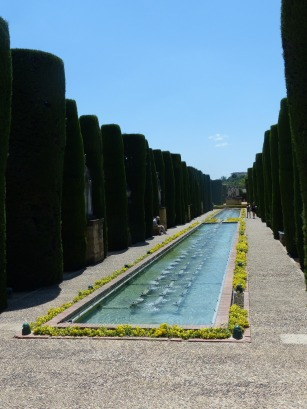 Water works in the Gardens of Alcazar de lo Reyes Cristianos