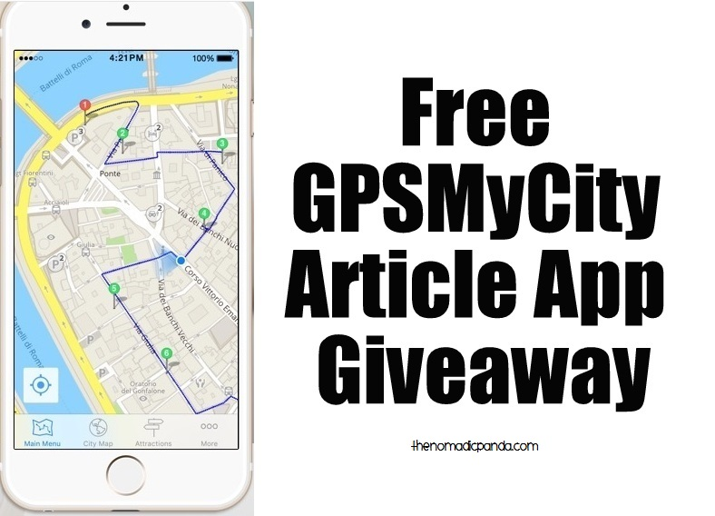 Free GPSMyCity Article app giveaway for my Harajuku and Omotesando Guide