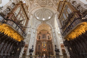 Inside Cordoba's spectacular Mezquita, in Andalusia Spain