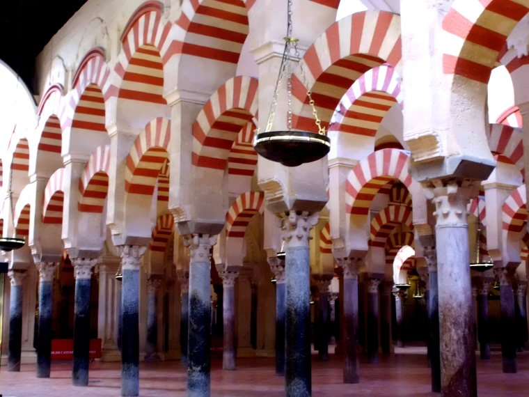Horseshoe arches of the Mezquita, Cordoba