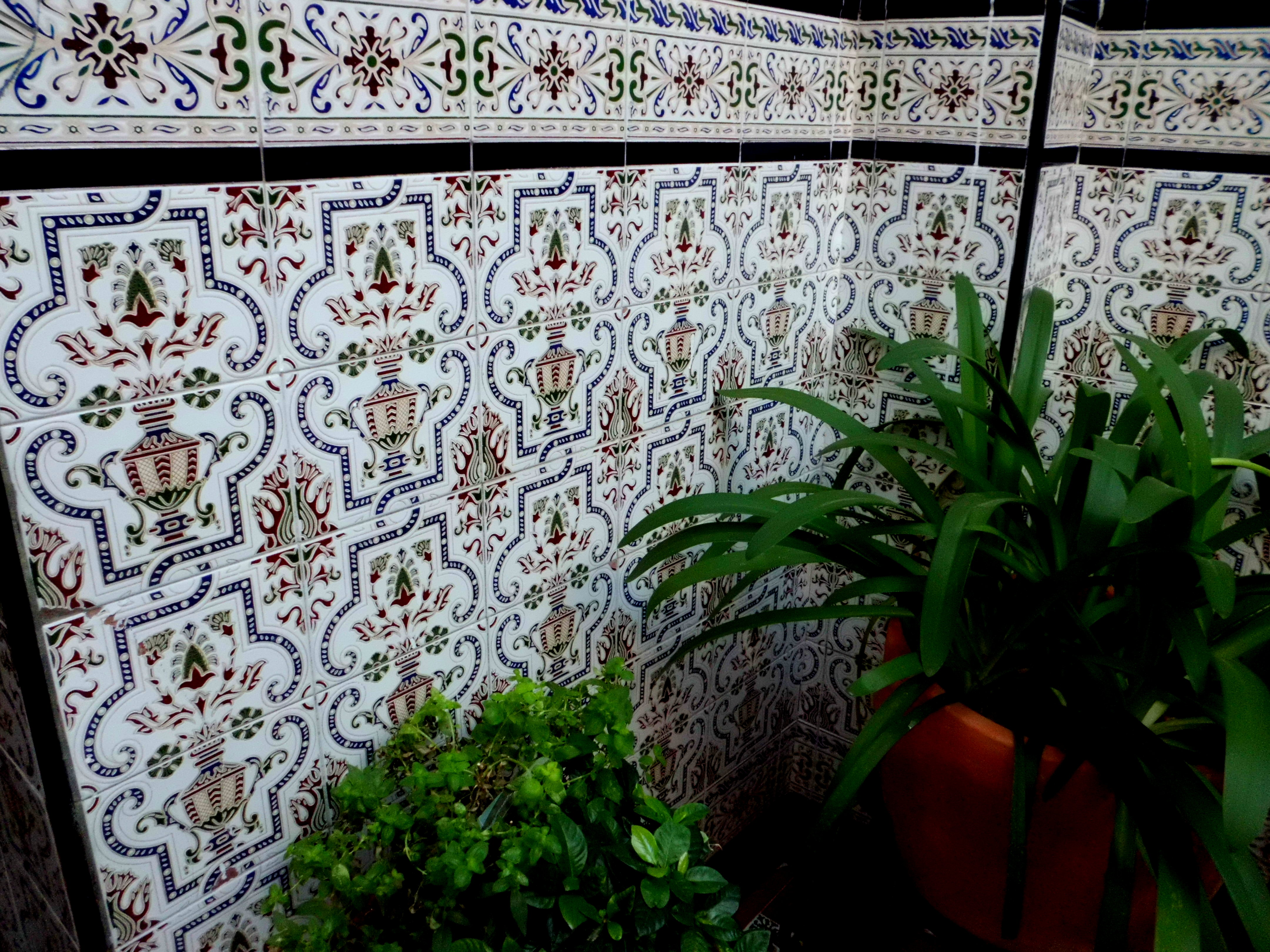 Courtyard tile work in Cordoba