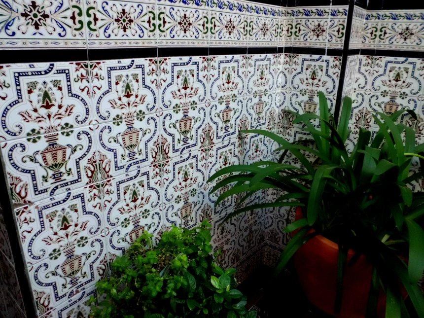 Courtyard tile work in Cordoba