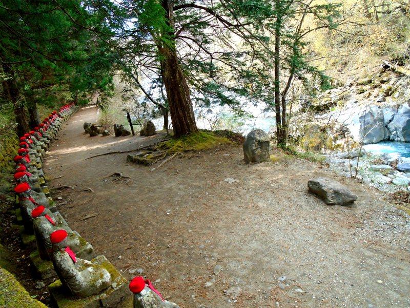 Jizu statues of Nikko at the Kanmangafuchi Abyss