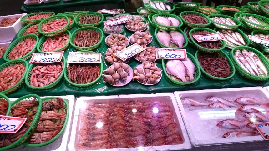 Fish stall at Omicho Market Kanazawa