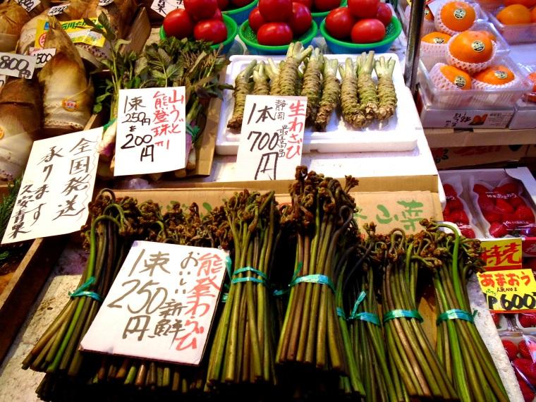 Wasabi root at Kanazawa Omicho Market