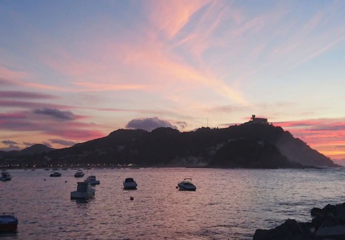 San Sebastian sunset spain