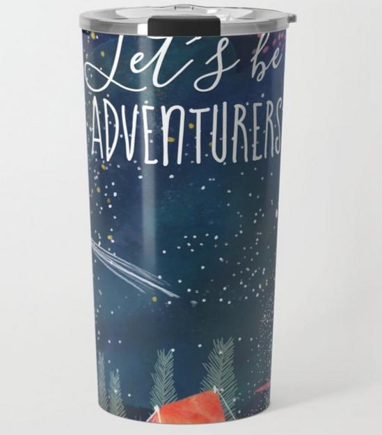Mia Charro Let's be adventurers Travel mug