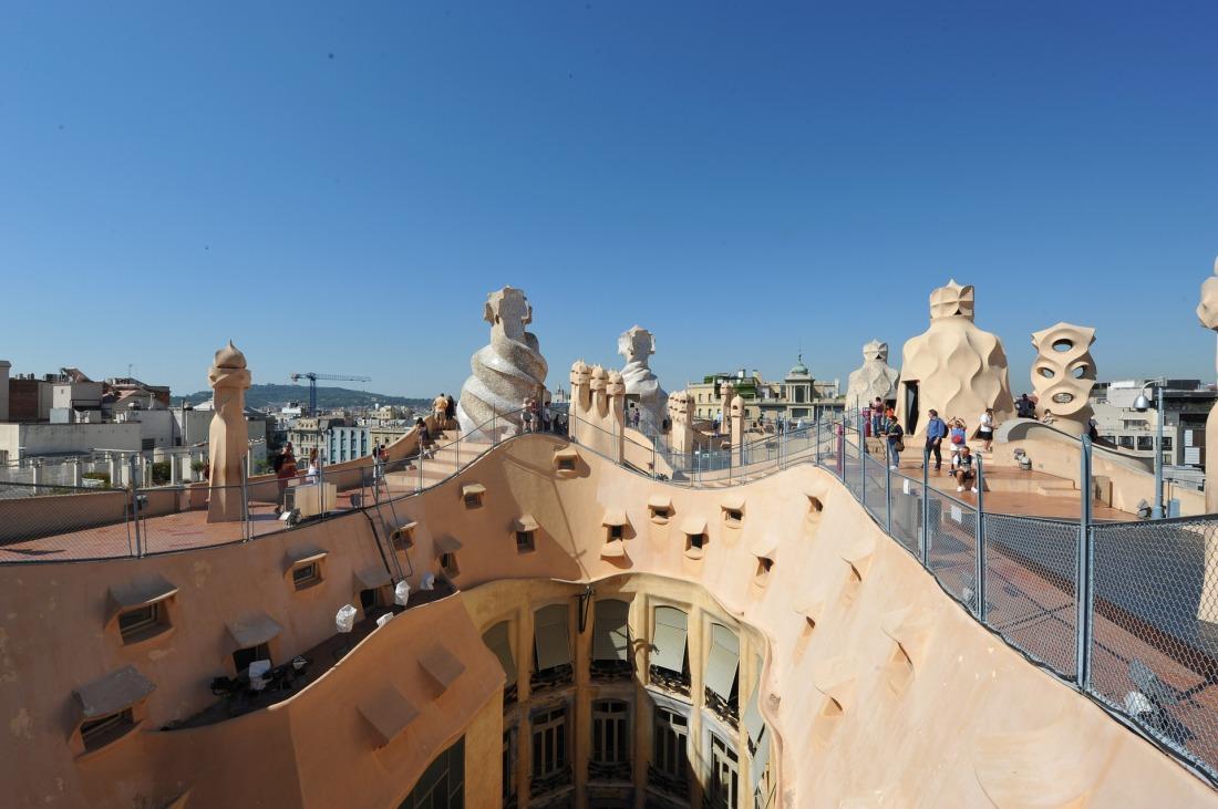 Barcelona Gaudi Casa Mila rooftop