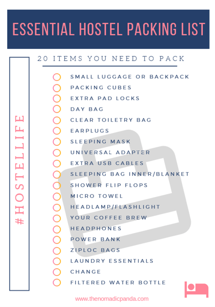 Hostel packing list 20 essentials you have to take to Japan